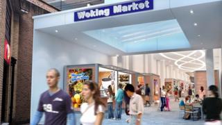 Artist's impression of new market