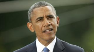 US President Barack Obama appeared in Washington DC on 13 June 2014