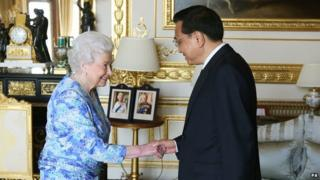 The Queen and Li Keqiang