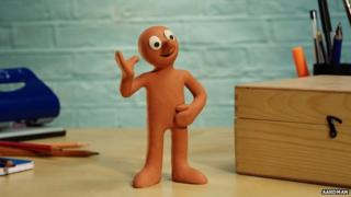 Morph on the See Hear show, waving