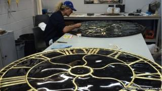Man restoring Guildford town clock