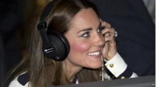 """The Duchess of Cambridge """"listens in on the enemy"""" during a visit to Bletchley Park"""