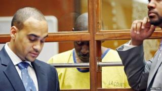 Actor Michael Jace appears in court for an arraignment hearing in Los Angeles, California 18 June 2014