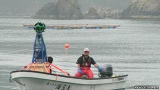 Google Street View camera mounted on a boat off the Japan coast