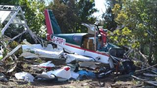 Plane crashed in a greenhouse near Guernsey Airport