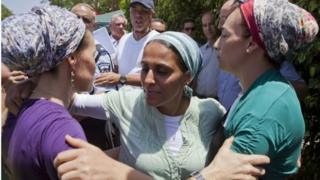 Mothers of missing Israeli teenagers (17/06/14)