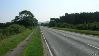 The 25 year old was hit on the A64 through Sherburn in North Yorkshire