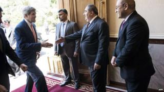 John Kerry meets Iraq's Foreign Minister on 23 July