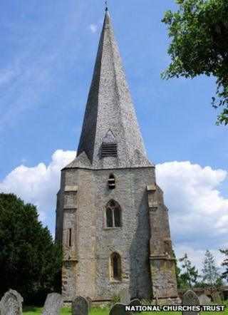 Westbury-on-Severn church spire