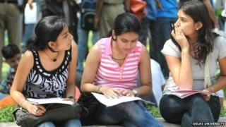 Thousands of students apply to study in Delhi University colleges every year