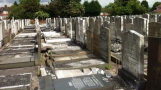Vandalised Jewish graves