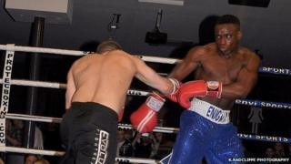 Lance Ferguson-Prayogg fighting in the ring