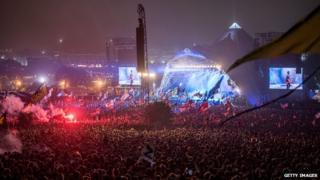 Glastonbury's Pyramid Stage in 2013