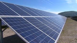 Solar panels in west Wales