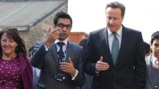 Sajid Raza with David Cameron