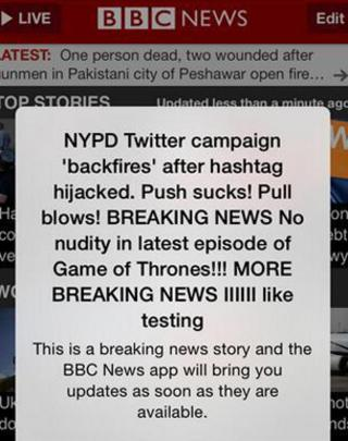 The push alerts