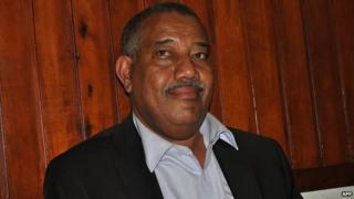 Lamu Governor Issa Timamy appears in court in Mombasa, 26 June 2014