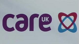 Care UK sign