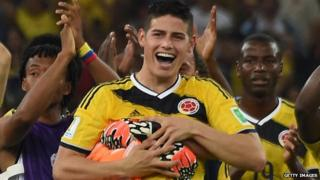 James Rodriguez of Colombia