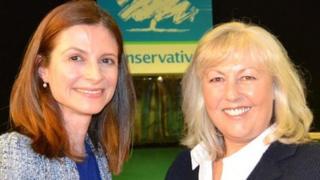 Seema Kennedy (l) and Lorraine Fullbrook