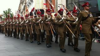 Royal Lancers in Leicester
