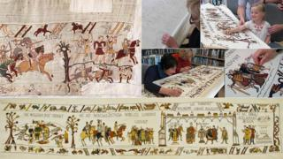 Alderney final panel of Bayeux Tapestry