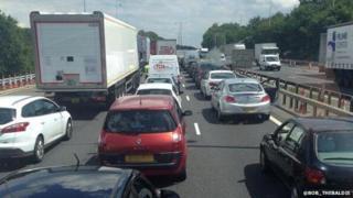 M25 in Essex