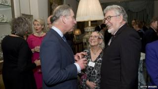 Rolf Harris with Prince Charles