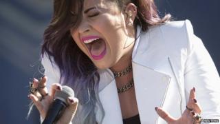 US singer Demi Lovato