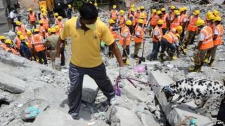 Rescuers search through several layers of rubble after Chennai collapse - 1 July