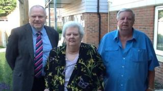 Residents of Alma House in Aldershot with Councillor Keith Dibble