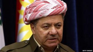 Iraqi Kurdistan's President Massoud Barzani