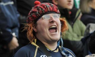Scottish man shouting