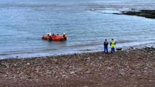The Penarth RNLI inshore lifeboat