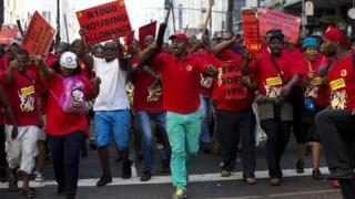 Demonstrating metal workers