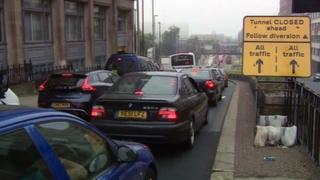 Queues on A38 during tunnel closures