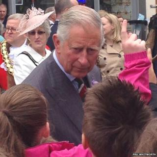 Prince Charles in Brecon