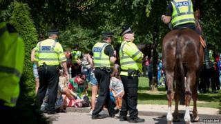 The 12-year-girl was treated by paramedics at the scene