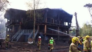 Fire at Green Island cabin