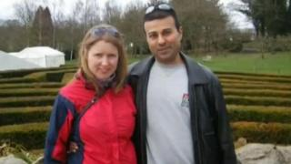 Alison Hewitt with Al Amin Dhalla