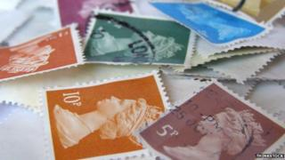 Stamps piled up