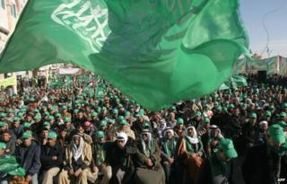 Hamas rally in the West Bank village of Yatta, 2006