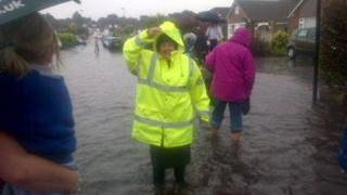 Flash flooding in Streetly