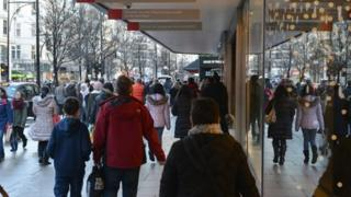 Shoppers on Oxford Street