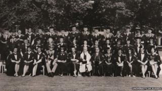 Graduation ceremony photo from 1964