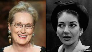 Meryl Streep and Maria Callas. pictured in 1958