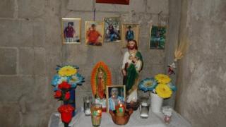 Shrine in Dona Berta's shack