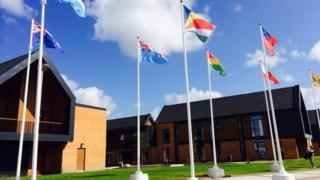 Flags in Athletes' Village