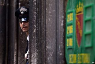 A Carabiniere officer
