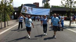 Coventry fans march